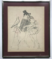 """Marcel Vertes (French, 1895 - 1961) """"Dogs At The Dance"""" Lithograph"""