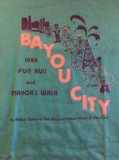 "Vintage Marathon / Race T-Shirt, ""Bayou City Fun Run"" ( 1988 ) Houston Texas"