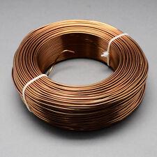2mm Aluminio Craft floristería Alambre Fabricación de Joyas longitudes de Silla de Montar Marrón 3m