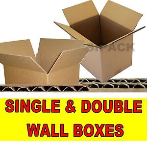 NEW SINGLE & DOUBLE WALL CARDBOARD POSTAL BOXES CARTONS - MADE FROM KRAFT PAPER