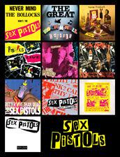 "SEX PISTOLS album discography magnet (4.5"" x 3.5"") u.k. punk rock sid vicious"