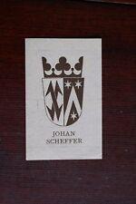 ✒ EX LIBRIS Johan Scheffer - armorié