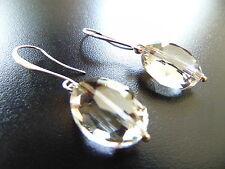 Ovaler Mode-Ohrschmuck mit Kristall und Hakenverschluss