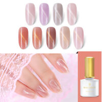 BORN PRETTY Pink  Magnetic Cat Eye UV Gel Polish Nail Art Semi-transparent