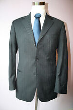 Hugo Boss Black Striped Three Button Wool Suit Size Mens 40 R 32 33 Pants 1