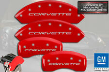 "1997-2004 Chevy ""Corvette"" Base C5 Front Rear Red MGP Brake Disc Caliper Covers"