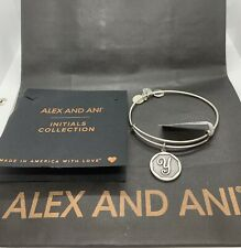 Alex And Ani Initial Letter Y Bangle In Rafaelian Silver