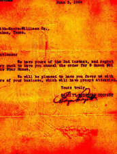1924 DALLAS TEXAS Letterhead EDGAR PADGITT BROS SADDLERY Rare GAUCHO WATERMARK