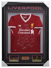 Liverpool Signed 2017/18 Team Jersey Framed Brand New + COA Milner Sturridge