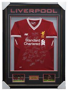 Liverpool Signed 2017/18 Team Jersey Framed Brand New + COA Milner Sturridge