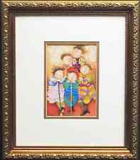 "Graciela Rodo Boulanger "" Les Trottinettes"" LITHOGRAPH Custom FRAMED art NEW"
