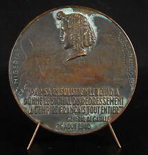 Médaille, Félix Éboué Gouverneur au Tchad Les colonies Afrique Equatoriale Medal