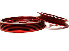 Red Precision Overdrive Pulley Kit For 97 To 01 Hyundai Tiburon 2.0L G4CP By OBX