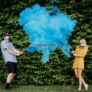 """Gender Reveal Blue Smoke Powder Cannons Holi Color Cannon 12"""""""