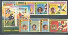 1974 - GUINEA EQUATORIALE - MONDIALI DI CALCIO MONACO 74 - 9v. + FOGLIETTO