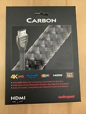 """AudioQuest Carbon HDMI 1 Meter 3'4"""" 4K UHD Ultra HD HDR HDMI 18G bps Cable"""