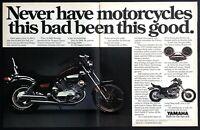 1984 Yamaha Virago 1000 Motorcycle photo Classic V-Twin 2-page vintage print ad