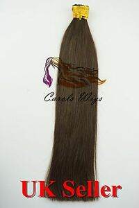 """26"""" 1g 8A* Russian Remy Double Drawn Stick/I-Tip 100% Human Hair Extensions UK"""
