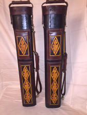 J. FLOWERS TRIBUTE CUE CASE 3x6 GENUINE LEATHER