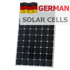 320W 12V Solar panel + 5m cable for camper / caravan / boat - 100% German Cells