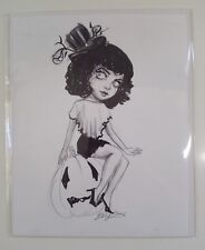 SDCC 2018- Diana Levin *Halloween Pinup* ORIG INK ON PAPER - Ghoulish Bunny 8x10