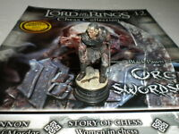 Eaglemoss Lord Of The Rings Chess Set 1 Issue 12 Orc Swordsman black pawn LOTR