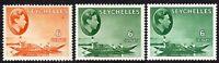 Seychelles1938 part set multi-script chalk paper mint SG137/137a/137c (3)