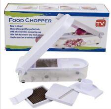 5 Piece Food Chopper, Food Slicer, Vegetable and Fruit Slicer, Food Dicer