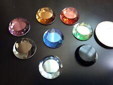 4 Auf 60 Kristalle Farbig Rund M 16mm Perlen Schmuck Halskette Kristall