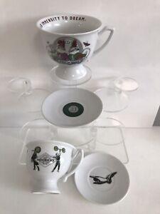 2 Hendricks Cups & Saucers