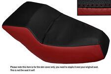 BLACK & DARK RED CUSTOM FITS HONDA HELIX CN 250 DUAL LEATHER SEAT COVER