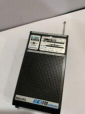 VINTAGE RADIO Phillips BANDS AM(MW)-FM-AIR-CRAFT-1960S-1980s Rare