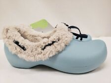New Crocs Women's Gretel Fur Lined Clog, Blue, Pink, Brown, Size 4, 5, 6