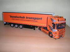 "WSI Scania R6 Topline 4x2 ""bundschuh"" + Curtain Side Trailer - 3 Axle 1:50"