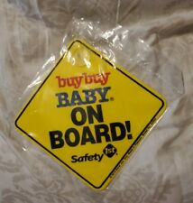 Baby on Board Car Safety 1st Sign with Suction Cup Buy Buy Baby
