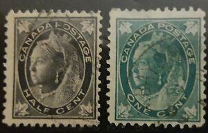 Canada Scott # 66-70 used 1897