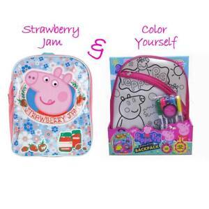 Peppa Pig Backpack Design School Bag, Lunch bag