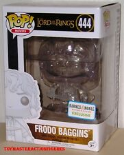 FUNKO POP THE LORD OF THE RINGS FRODO BAGGINS #444 CLEAR B & N EXC IN STOCK