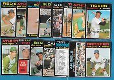 1971 OPC O PEE CHEE TOPPS MLB BASEBALL CARD 265-392 SEE LIST