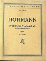 HOHMANN - Praktische Violinschule