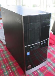 HP PAVILLION 500 i5 4400@3.1GHZ 8GB 500GB WINDOWS 10 PC TOWER USB 3.0