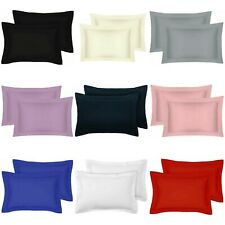 2x Oxford Pillowcase Cover 100% Poly Cotton Super Soft Bedroom pillow Pair Pack