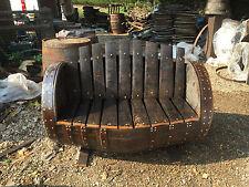 In rovere massello rustico ristrutturato Whisky Barrel Panca da giardino