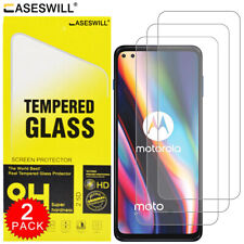 For Motorola Edge S Caseswill Premium HD-Clear Tempered Glass Screen Protector