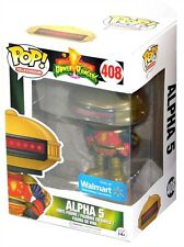 Funko Pop Television Walmart Mighty Morphin Power Rangers #408 Alpha 5 Figure!