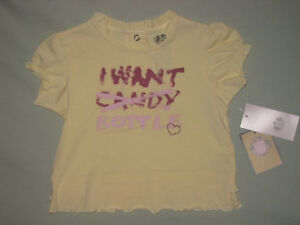 NEW JUICY COUTURE TODDLER SHIRT YELLOW SIZE 12 MO CUTE!