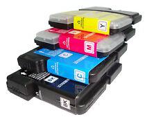 588 4 x Cartucho de Tinta Compatible para Impresora Jet Brother Lc 980 990 1100