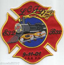 """Lake Conroe  Station-32  """"9-11-01"""", TX (4"""" x 4"""" size) fire patch"""
