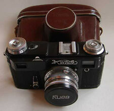 Soviet Contax copy KIEV 4A BLACK 35mm RF camera w/ Jupiter-8M 2/50mm lens, EXC.