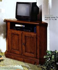MOBILE ANGOLO PORTA TV IN LEGNO CON 2 ANTE COLORE NOCE xSOGGIORNO SALA SOFA 5978